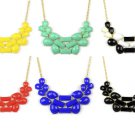 lady's golden funky BIB candy color summer collar necklace jewellery NL-2060