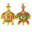 enemal cute movable alloy turtle jewelry pendant charms DIY necklace scarf PT795