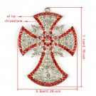 Bling rhinestones cross pendant DIY jewelry scarf necklace accessories PT780