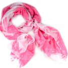 pink scarf with big skull printing,fashion women's accessory NL-2097