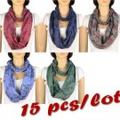 15 pcs cotton scarf ring hood Braid charms endless fashion neck scarves NL-1999