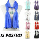 18pcs wholesale flower charms jewelry scarf bright colors woman scarves NL-2020
