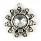 2 pcs Sunflower pendant stone alloy DIY jewelry scarf necklace accessories PT779