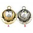alloy oversized big stone round shape pendant flower DIY jewellery pendant PT797