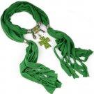 women scarves with jesus enamel cross pendant ,NL-2106