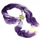 new arrival spring Rainbow flower charm hood infinity chiffon scarves,NL-2004