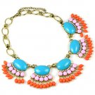 bib bubble statement brand quality funcky summer pendant necklace NL-2088