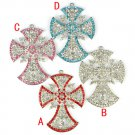 cross pendant Bling rhinestones DIY jewelry scarf necklace accessories PT-780