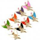 lady fox angel with wings pendant jewelry rhinestones DIY jewelry findings PT785