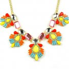 colors beads chunky BIB necklace fashion choker with charms NL-2086
