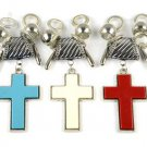 cross charms DIY jewelry findings jewelry scarves pendant accessory tube bails