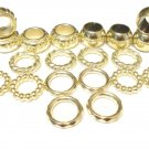 Fashion Jewelry Scarf Rings Charms Gold Tone Scarf Jewelry 20 pcs/lot