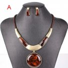 Fashion new women jewelry sets pendant necklace+stud earring necklace sets