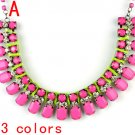 3colors oversized women collar necklace,shiny color necklace,new design NL-2034