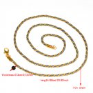 3pcs twist chain for DIY necklace,gold color accessory chain,free shipping PT836