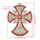 DIY jewelry scarf findings,metal cross pendant with rhinestones jewelry charms