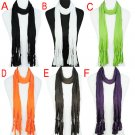 DIY Scarf,15 colors solid scarf and 15 designs pendants, mixed style,PT-1052