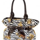 Brown zebra handbag