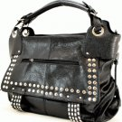 leather studded handbag