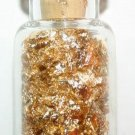 Pure 24k Gold Leaf Flake In A Beautiful Miniture Glass Corked Bottle