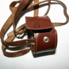 Vintage Camera Lens Case With Long Leather Carry Strap