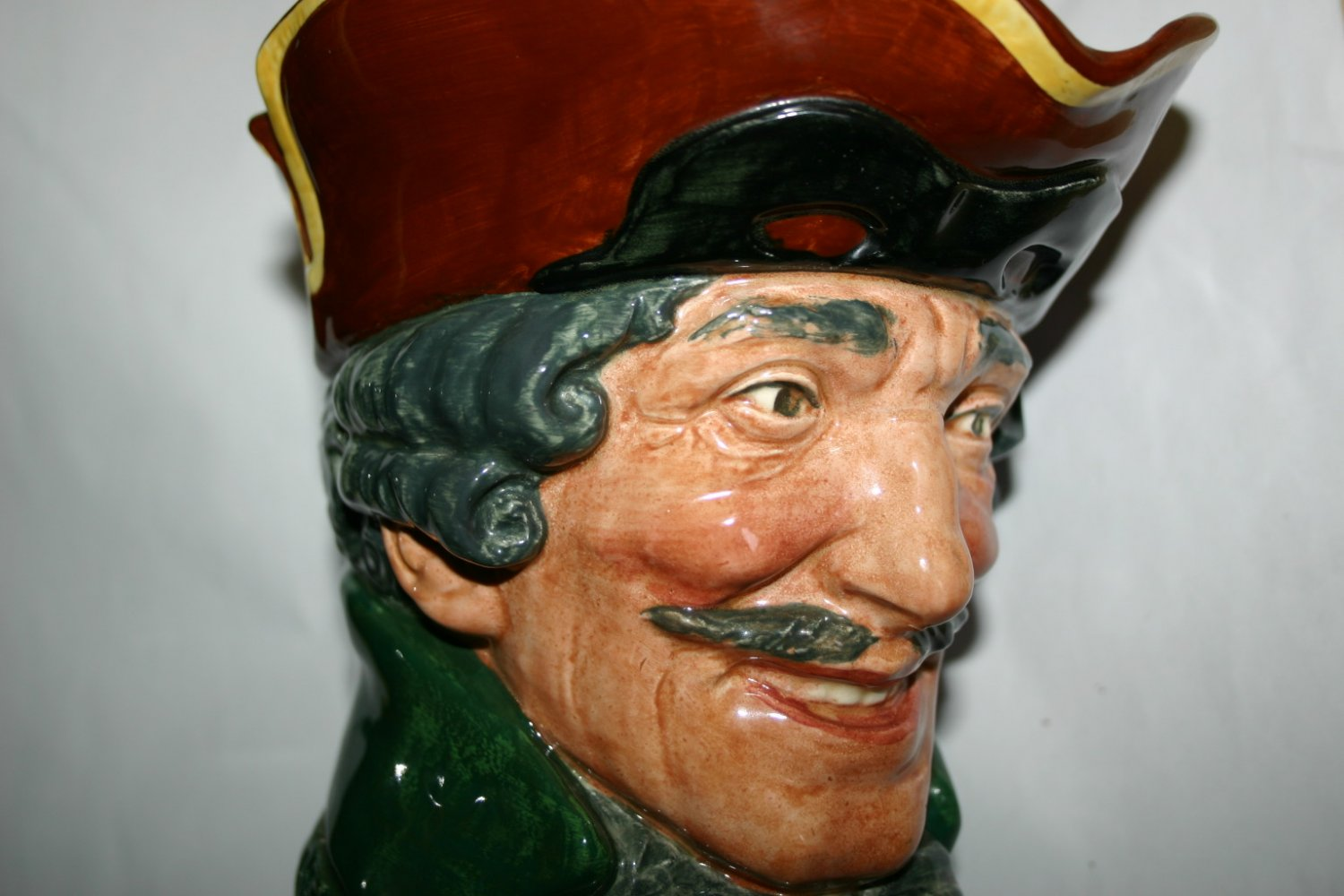Rare Large Antique Dick Turpin Royal Doulton Character Toby Jug