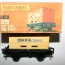 Vintage Matchbox NEW 25 Flat Car Container With Original Box