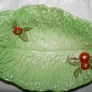 Vintage 1950 Crown Devon Large Tomato and Lettuce Leaf Dish