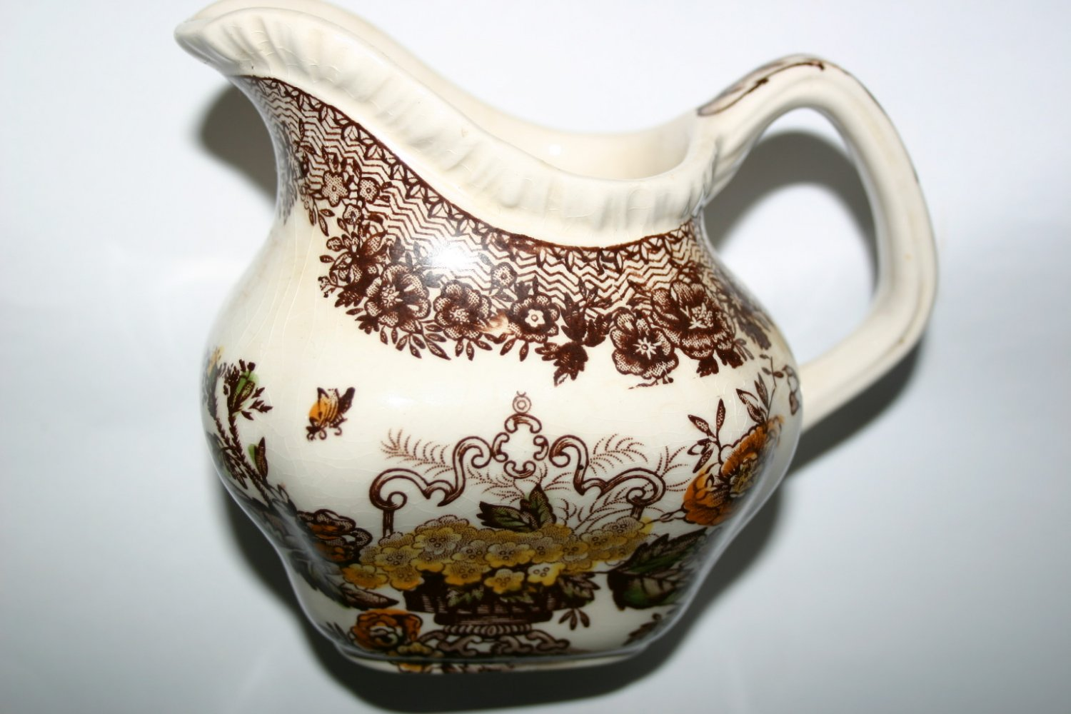 Antique 1820's Masons Ironstone Floral Creamer Jug