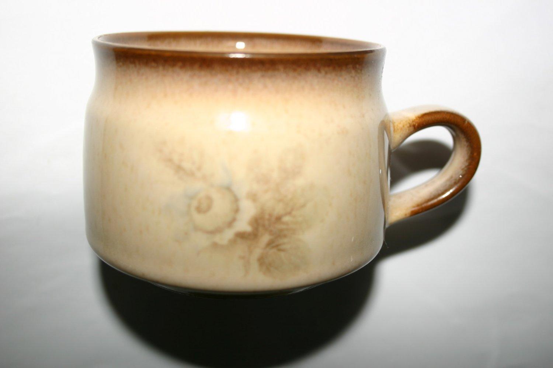 Rare Classic Denby Coffee Mug With Floral Design