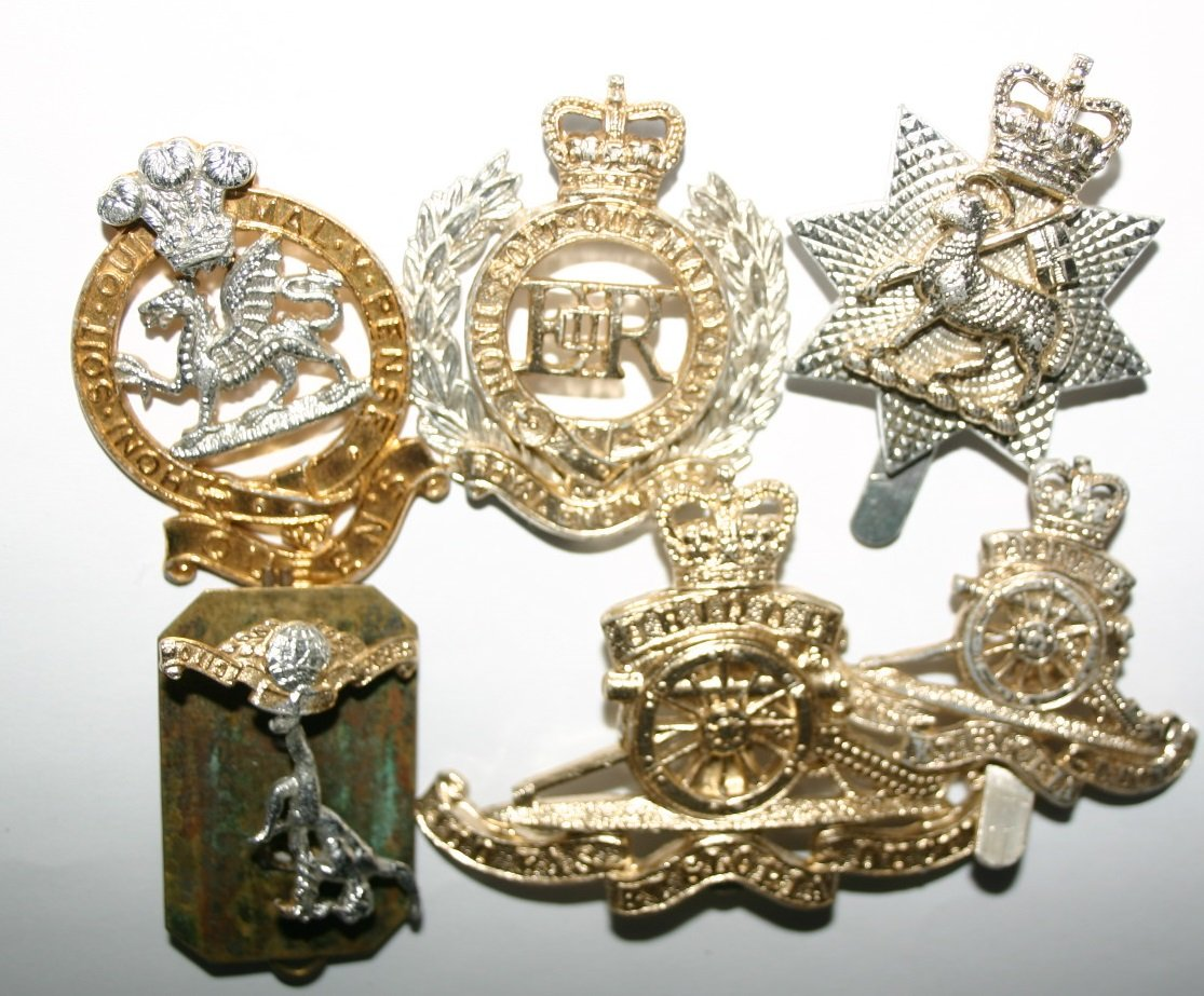 Collection Of Military Medal Badges