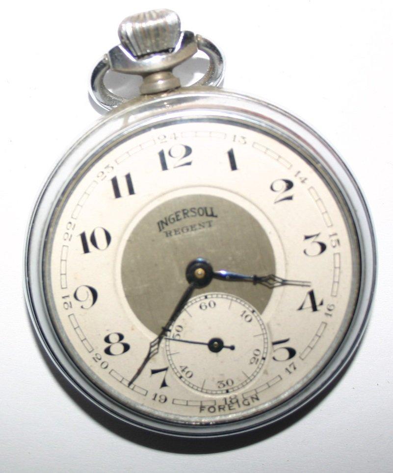 Ingersoll Regent pocket watch 1927 baRT dECO eRA