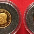 Liberia 1/25 oz Gold LIBERIA 10 Dollars 2003 Pope JOHN PAUL II Proof Coin