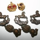 Collection Of Rare Kings Regiment Military Badges