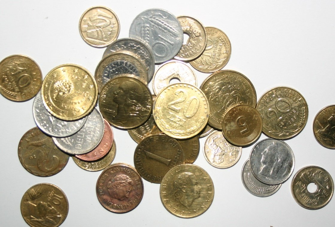Collection Of Various Coins From Around The World