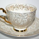 Antique Fine Bone Chine Jane Ridge Burslem Tea Cup and Saucer