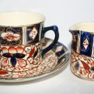 Antique Wadeheath Ware Porcelain Cup Saucer and Creamer Collectors Set