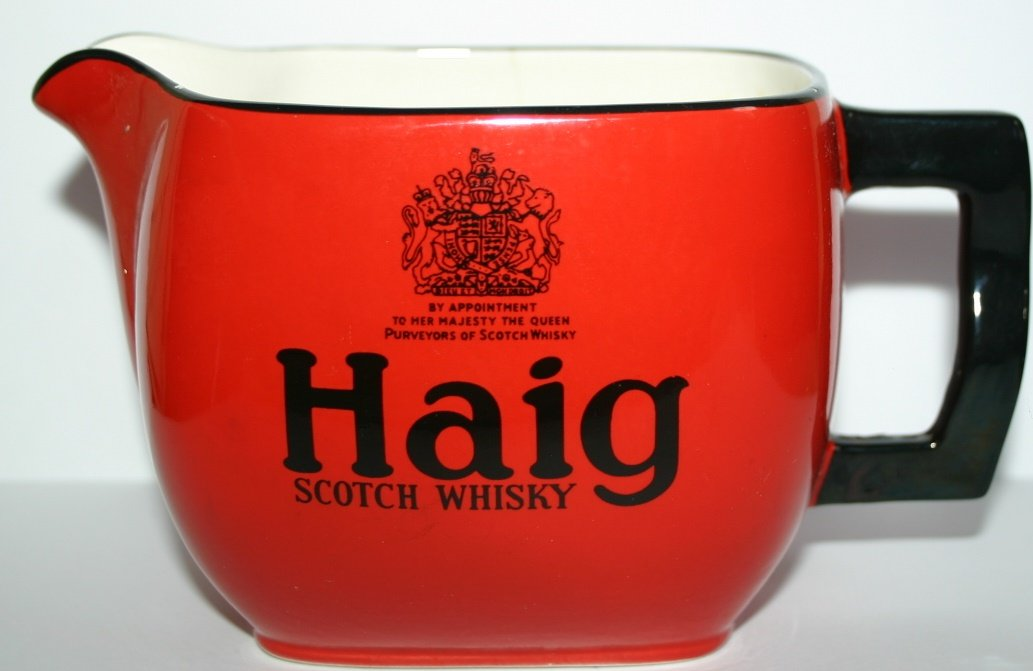 Vintage Haig Scotch Whisky Water Jug design Number 1406
