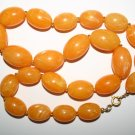 Vintage 1970's Large Orange Beaded Retro Fashion Necklace