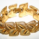 Stunning Golden Fauna Design Costume Jewellery Bracelet Signed 1621