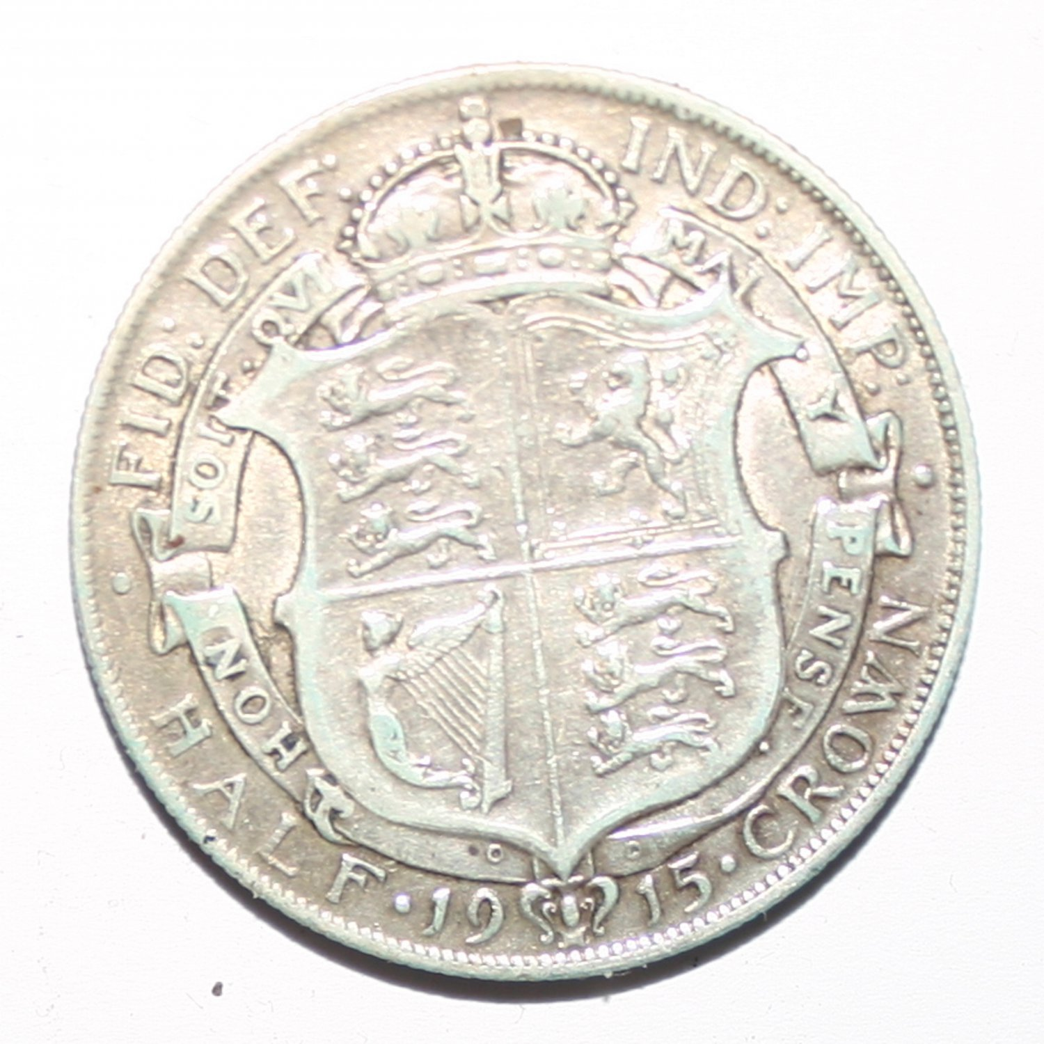 King George VI Silver Half Crown 1915 Coin