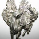 Vintage Large Pegasus Sparkling Silver Brooch