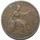 King George IIII 1825 Farthing Coin Errors on G and D Wide Date