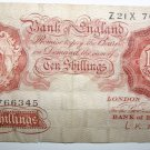 Banknote Bank of England 10 Shillings 1955 Signed by L. K. O'Brien.