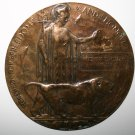 Military Memorial WW1 Bronze Death Plaque Named Henry Thomas Monk