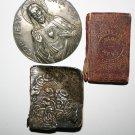 Religious Items Golden Key Miniature Bible, Rare Bible Silver Cover, Jesus Icon