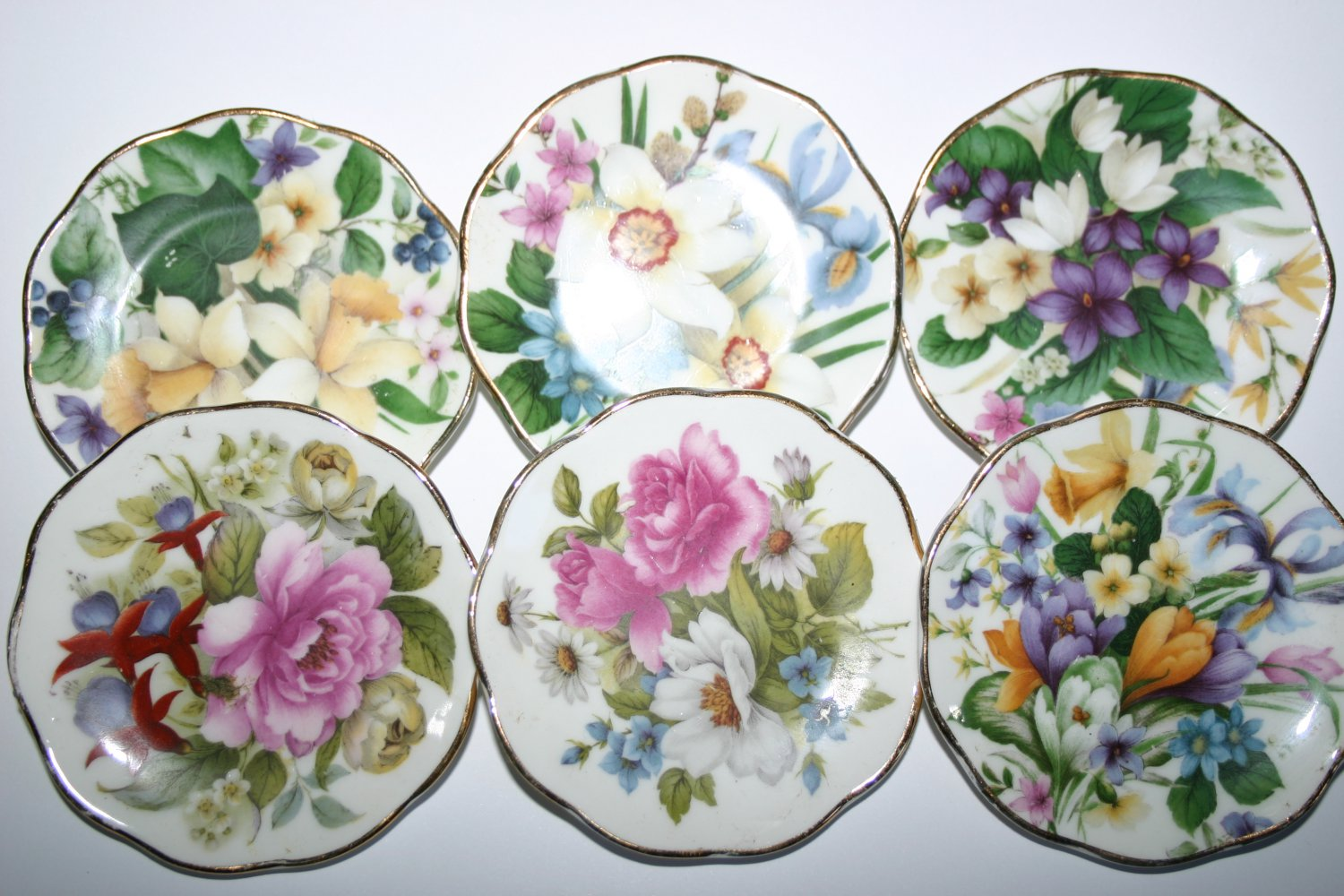 Miniature Flowers Of Summer Finest English Bone China Plate Collection
