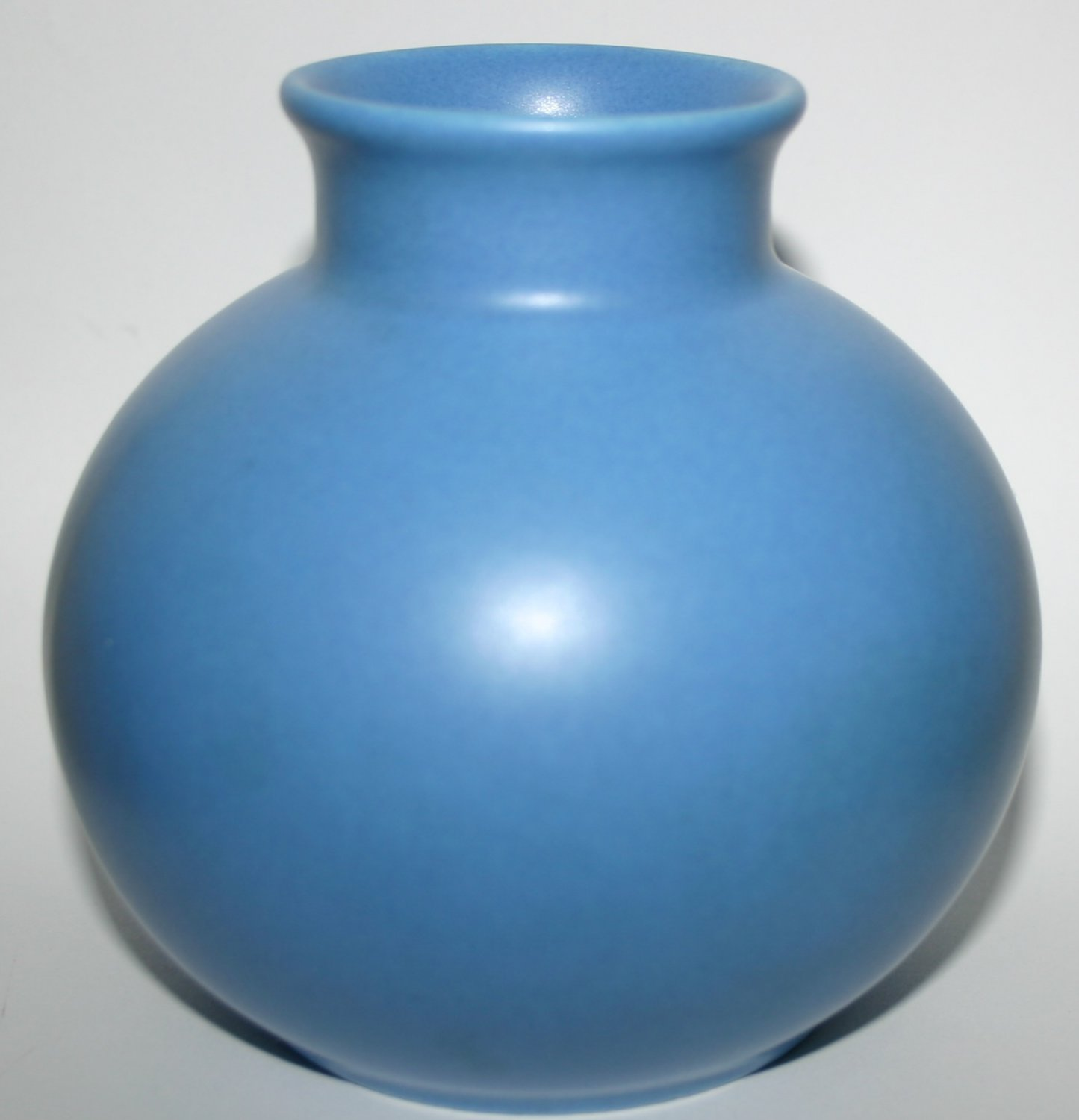 Classical Round Blue Bowl Flower Vase By Poole Pottery