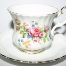 Royal Albert Finest Bone China Moss Rose Pattern Cup and Saucer