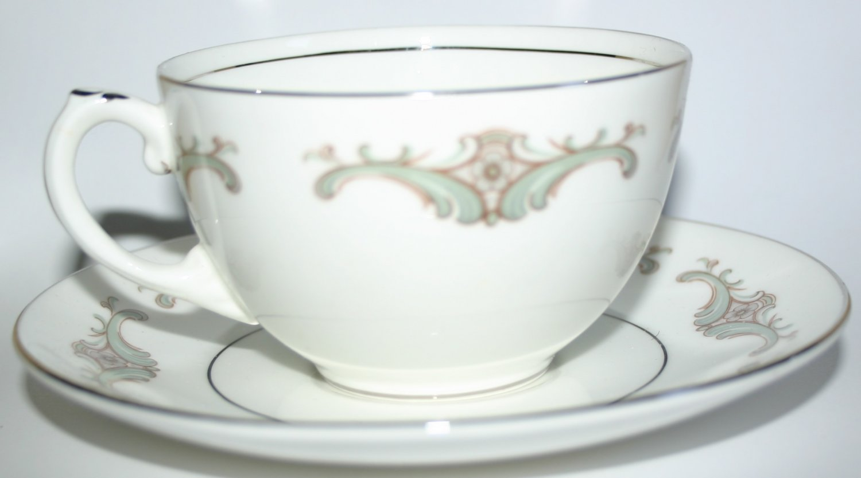 Foley Bone China Porcelain Angelique Design Vintage Collectors Cup and Saucer
